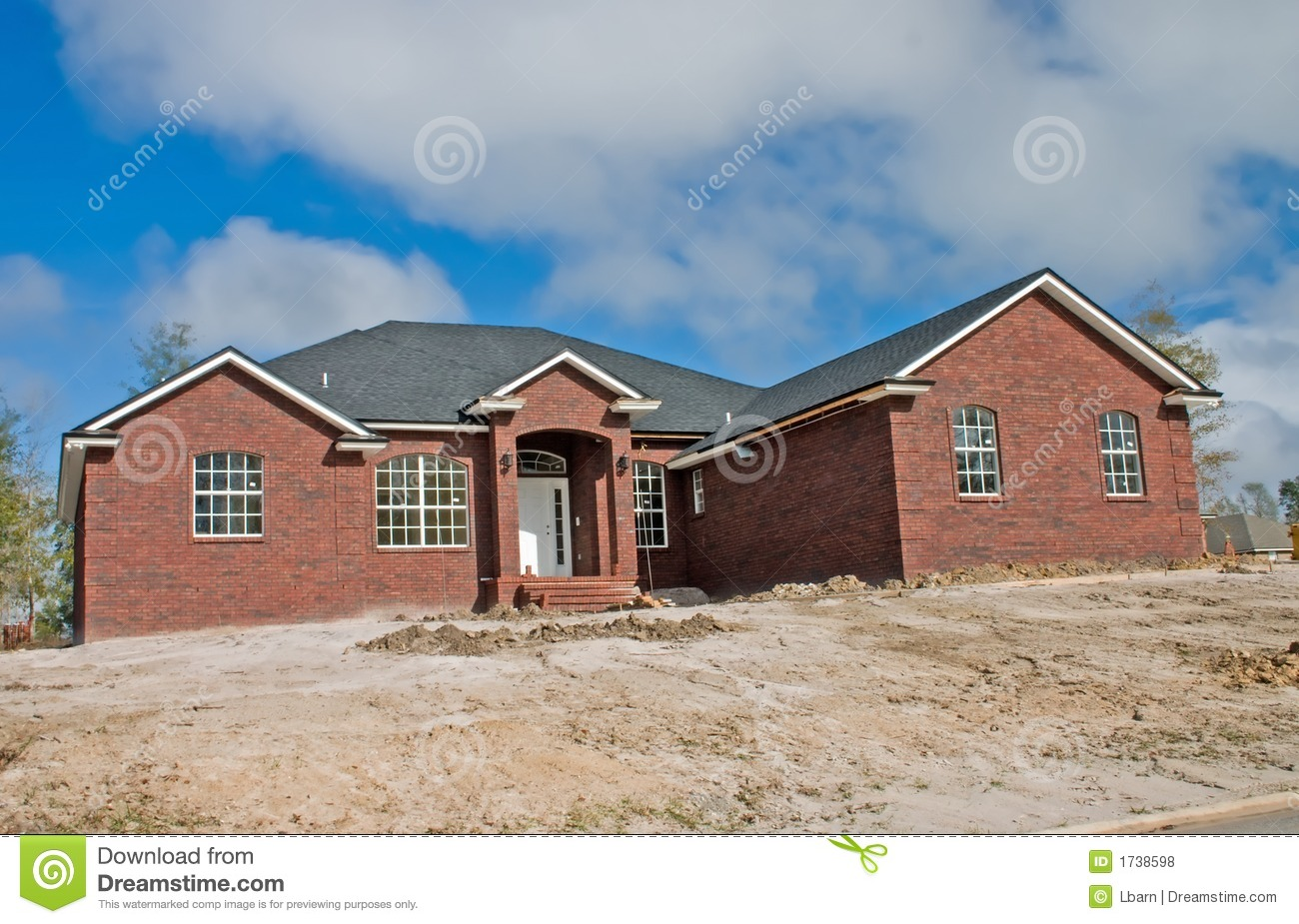 New brick home royalty free stock photos image 1738598 for New brick homes