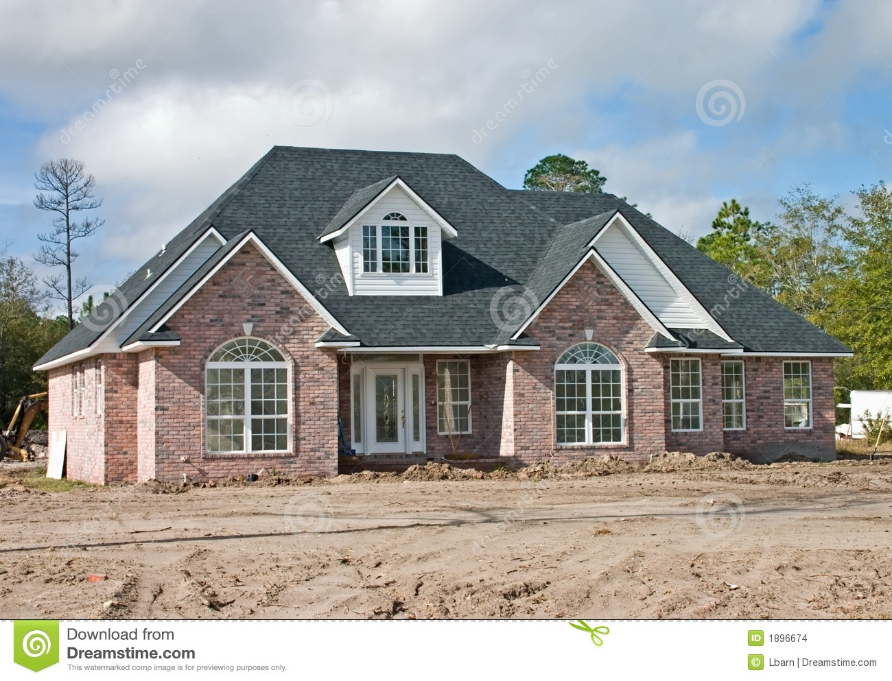 New brick home 2 stock images image 1896674 for New brick homes