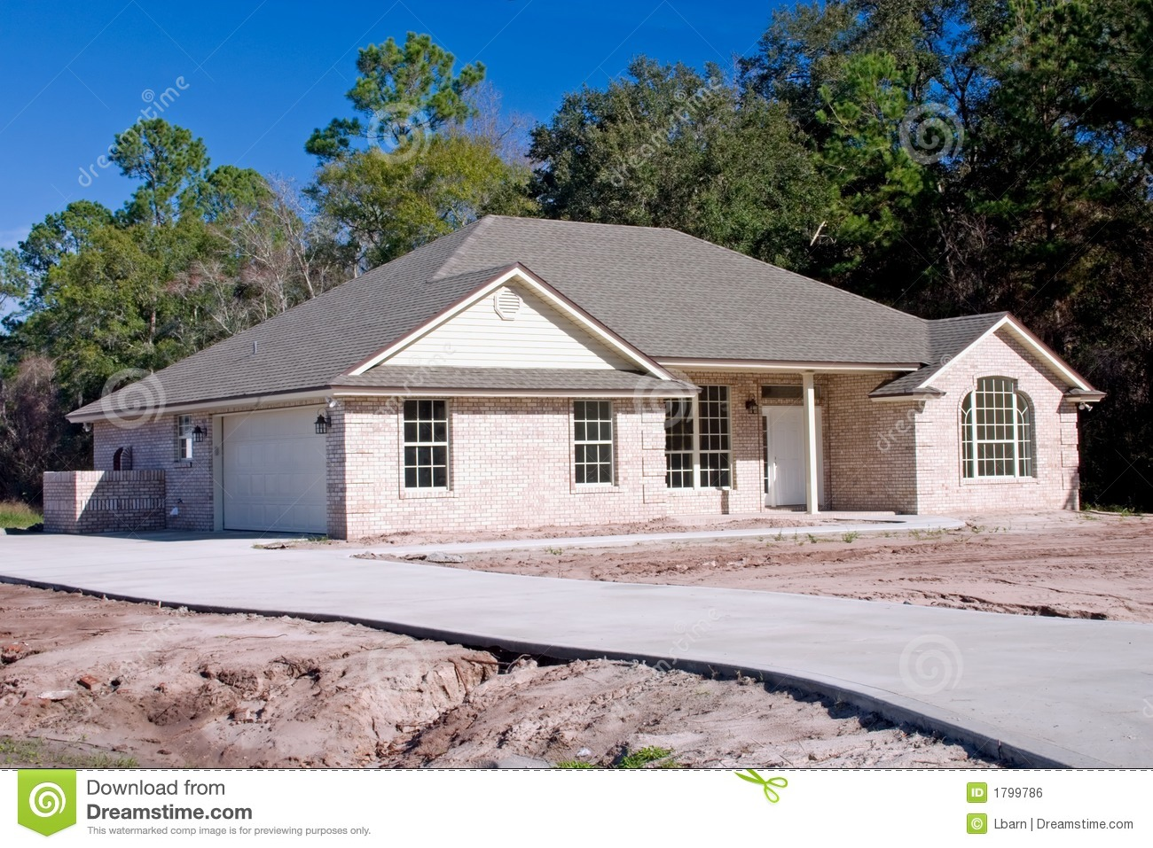New brick home 3 royalty free stock image image 1799786 for New brick homes