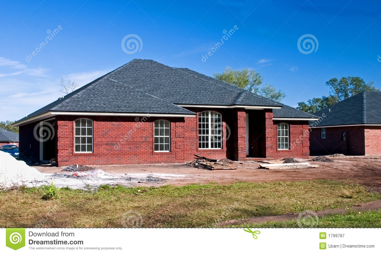 New brick home 4 royalty free stock photography image for New brick homes