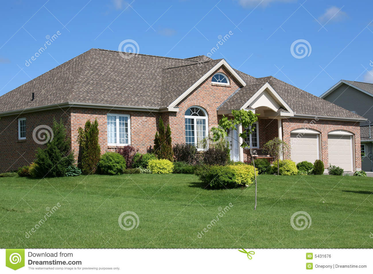 new brick home royalty free stock image image 5431676