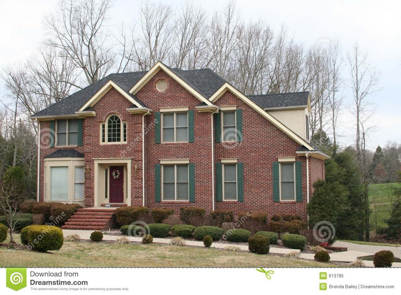 New brick home royalty free stock photo image 613785 for New brick homes