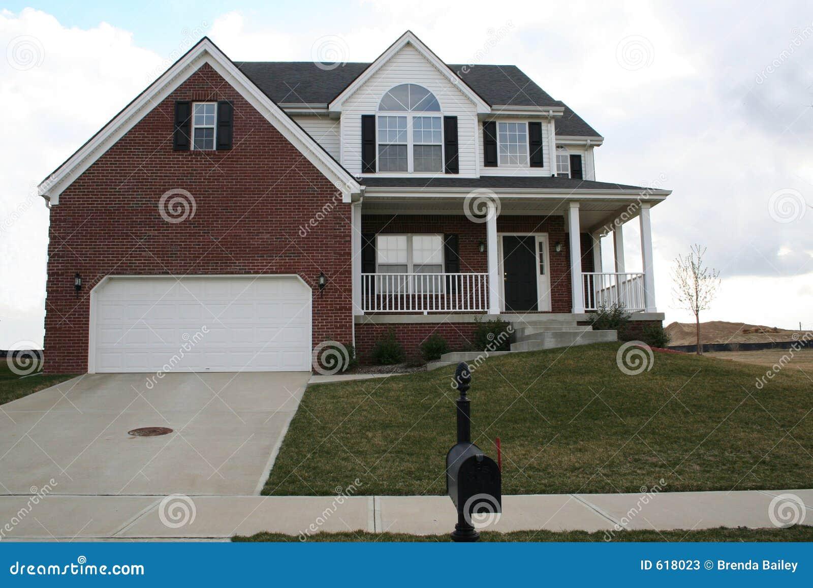 New Brick Home Stock Photos Image 618023