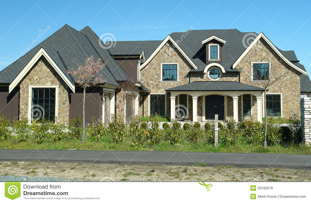 Brick House Front Elevation : New home royalty free stock image