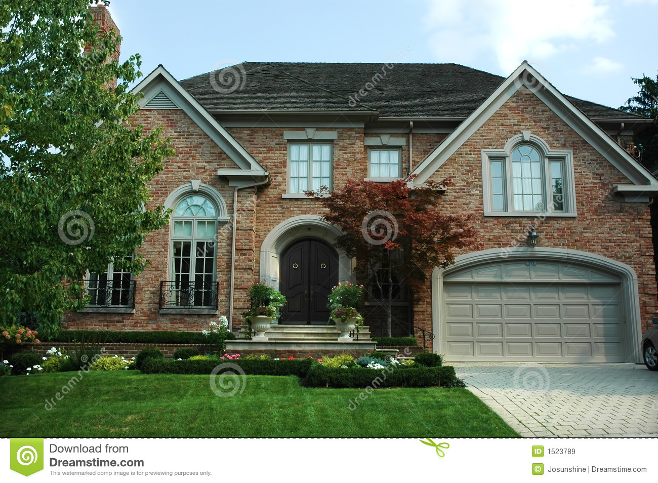 New brick house royalty free stock images image 1523789 for New brick homes