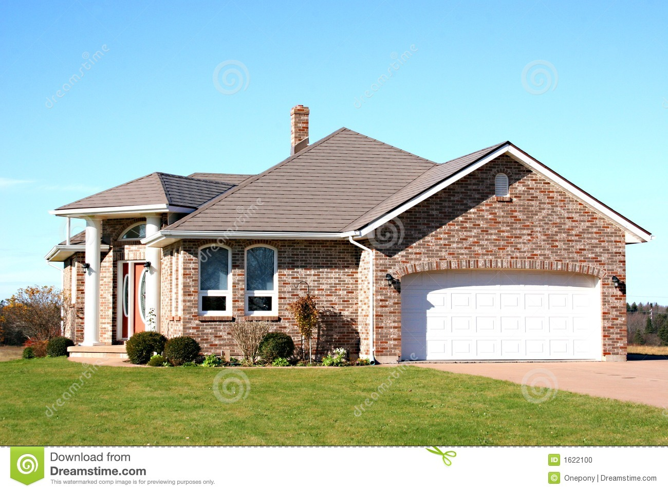New brick house stock photo image of brick landscaping for New brick homes