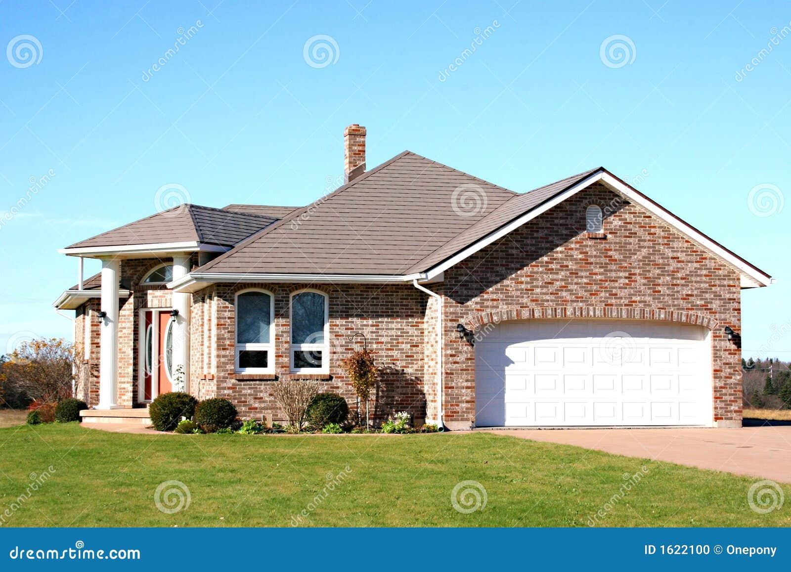 New Brick House Stock Photo Image Of Brick Landscaping
