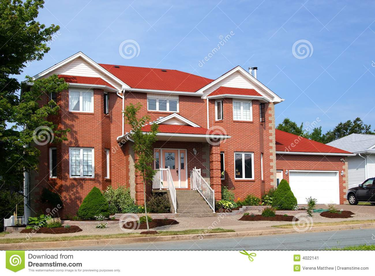 New brick house stock image image 4022141 for New brick homes