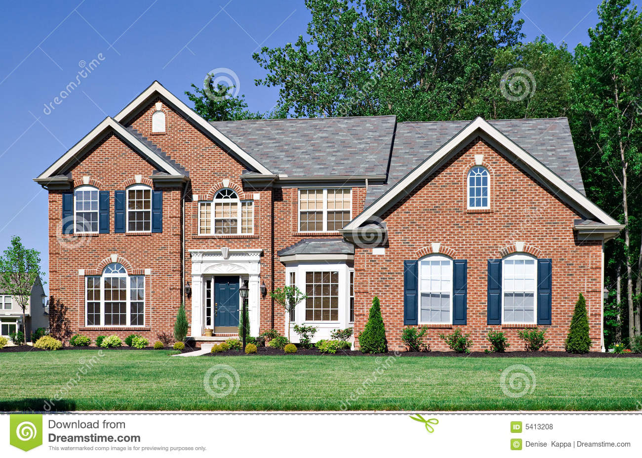 New brick house royalty free stock photos image 5413208 for New brick homes