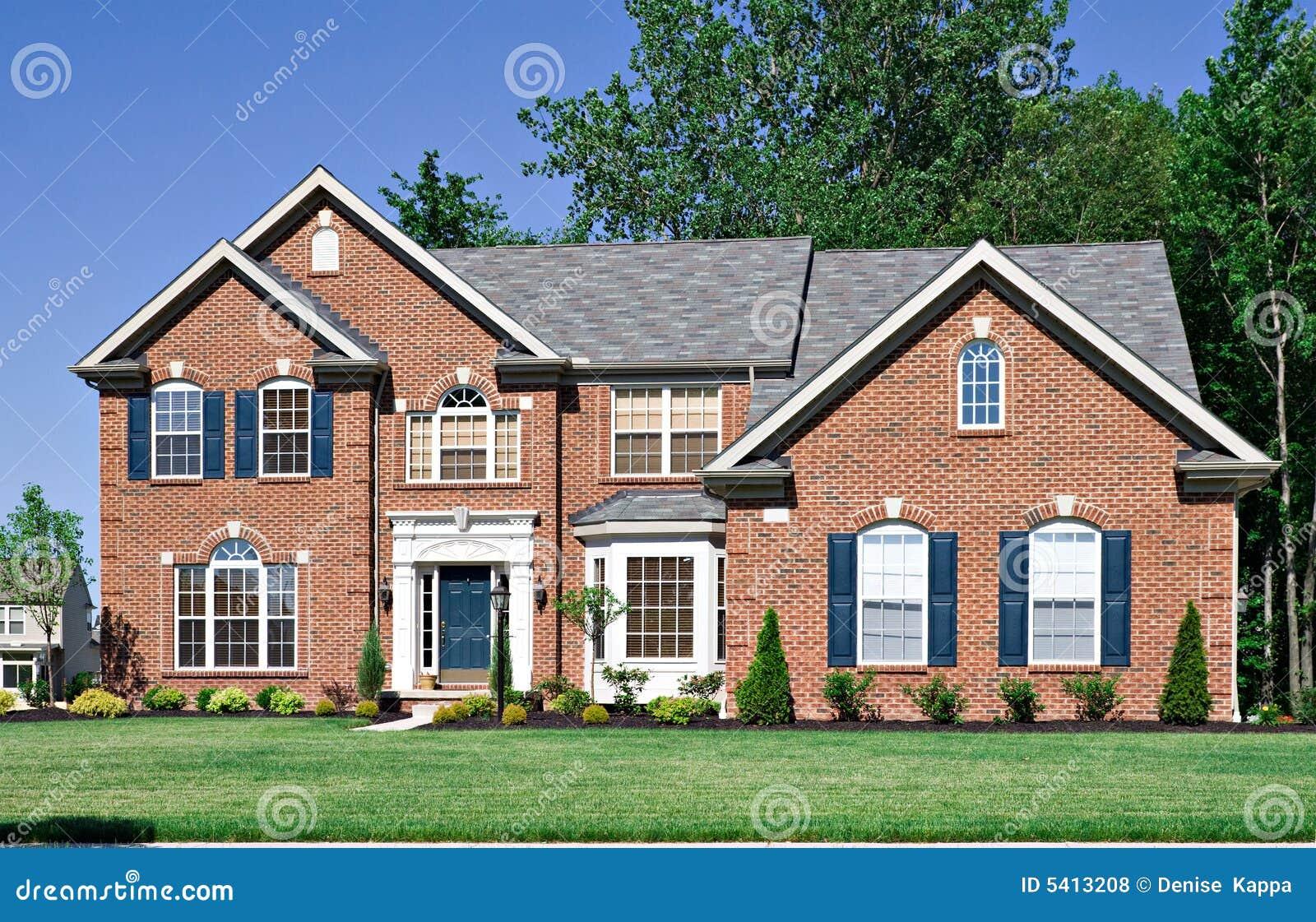 New brick house royalty free stock photos image 5413208 for New brick homes