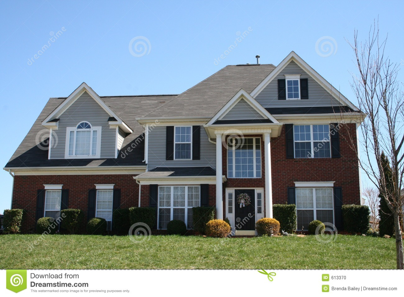 New brick house stock photo image 613370 for New brick homes