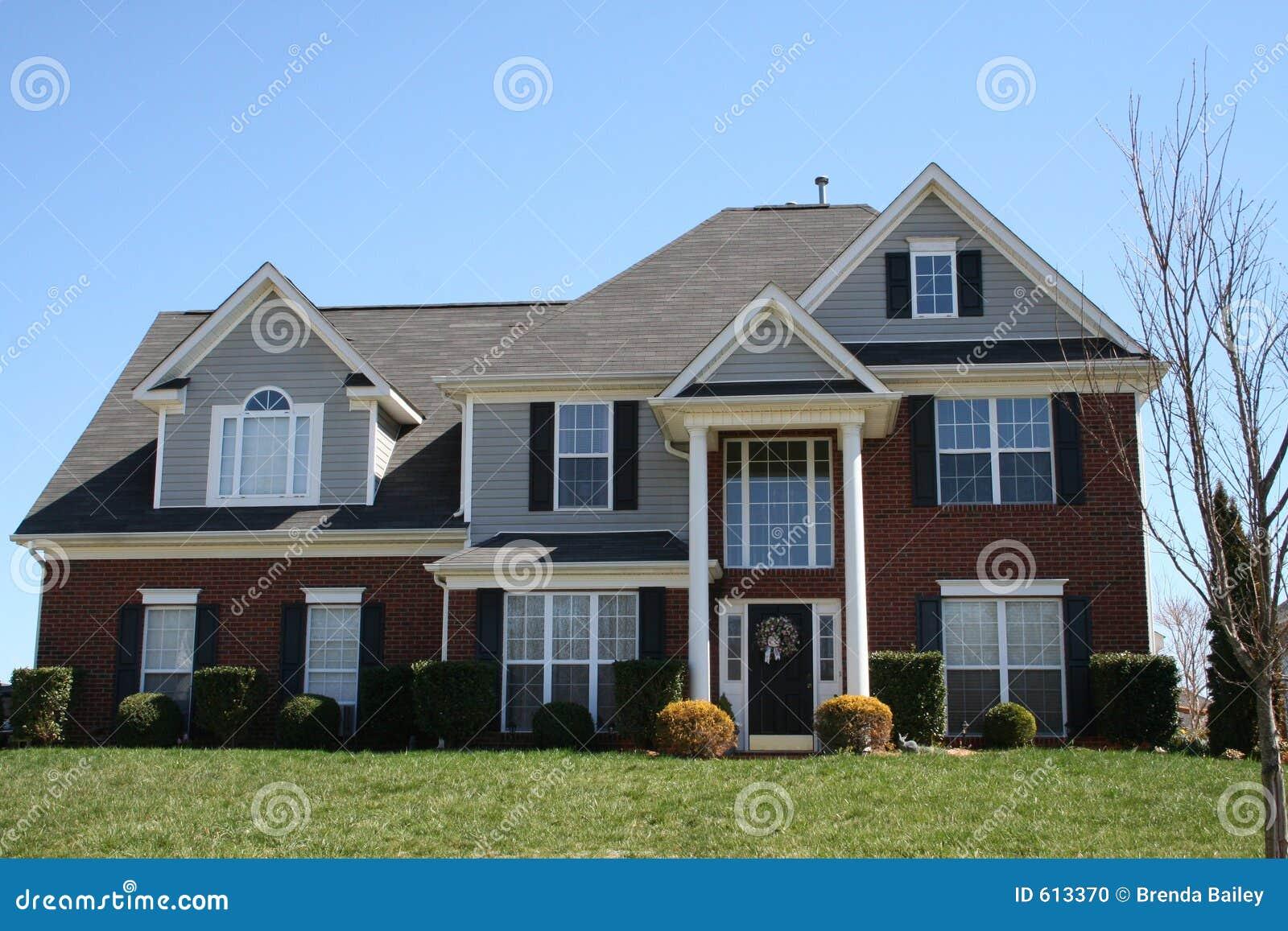New brick house stock photo image 613370 for New brick homes