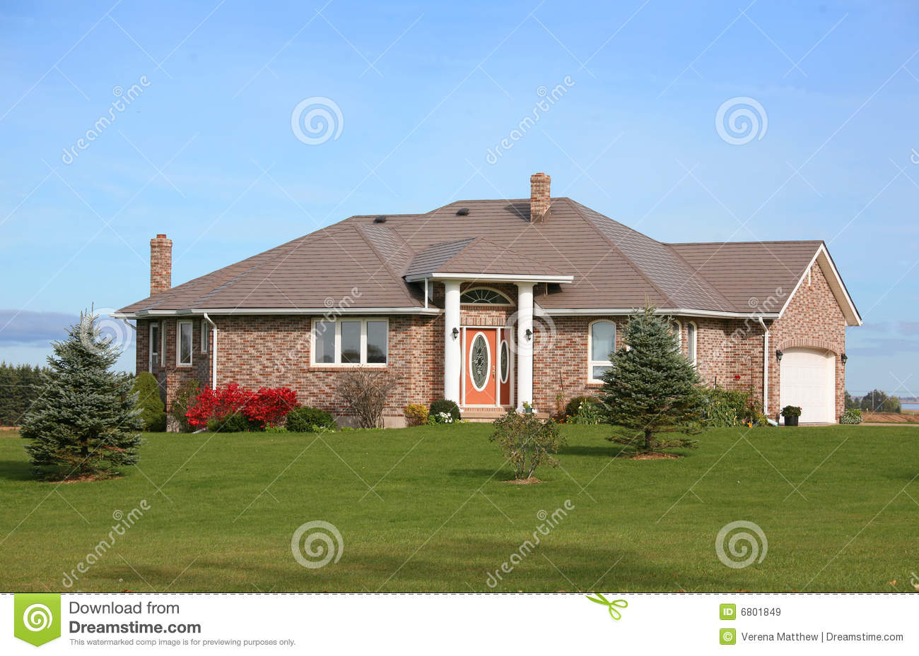 New brick house royalty free stock images image 6801849 for New brick homes