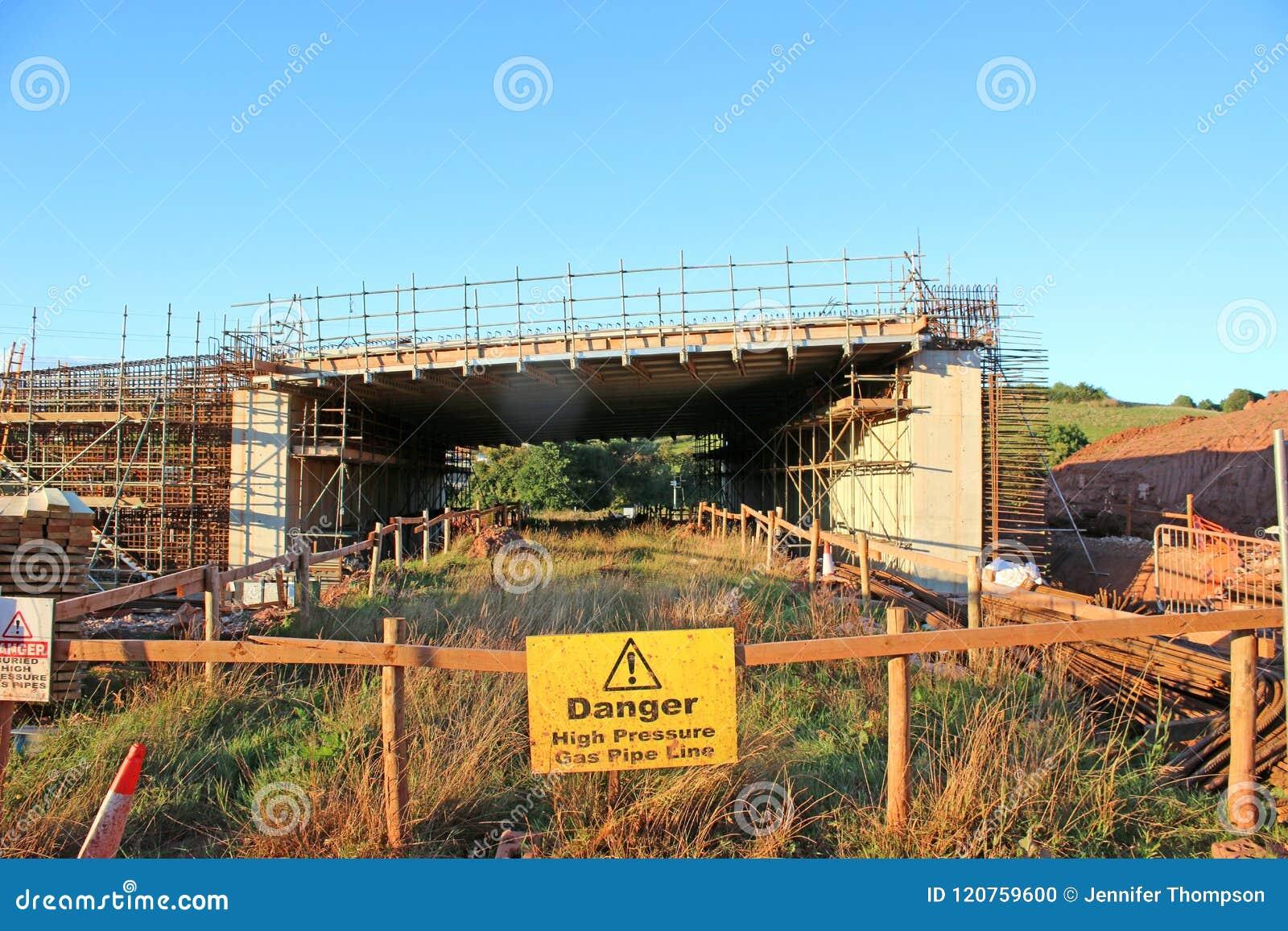 Road Bridge Under Construction Stock Photo - Image of pipes, gravel