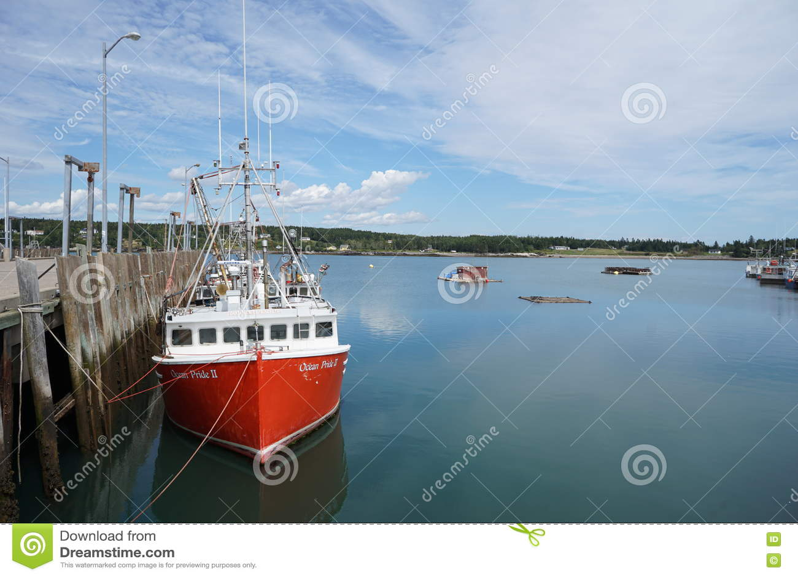 New Brunswick Fishing Village Editorial Stock Image - Image