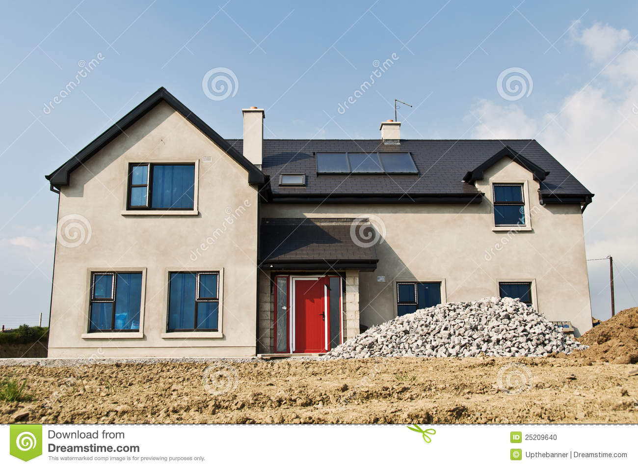 Cellular Concrete House Building For : New build concrete house stock photo image of home