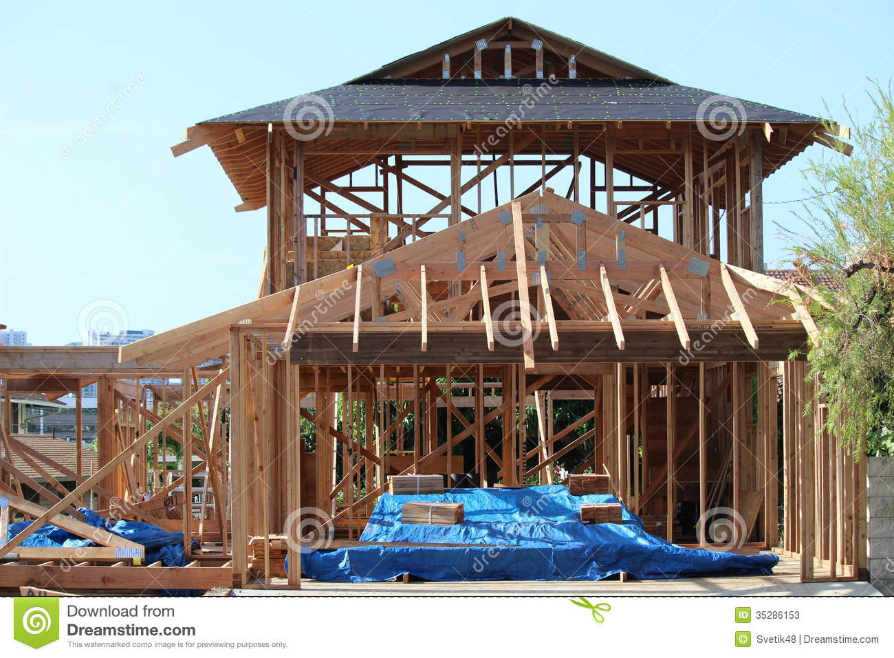 Build New House new build house stock photos - image: 35286153