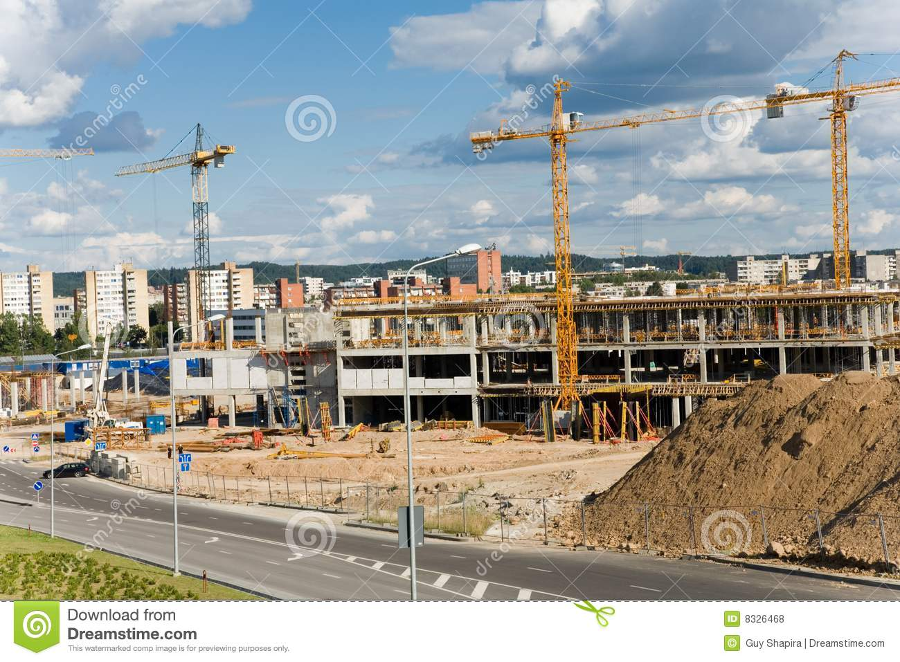 New building construction site royalty free stock photos for Images of building sites