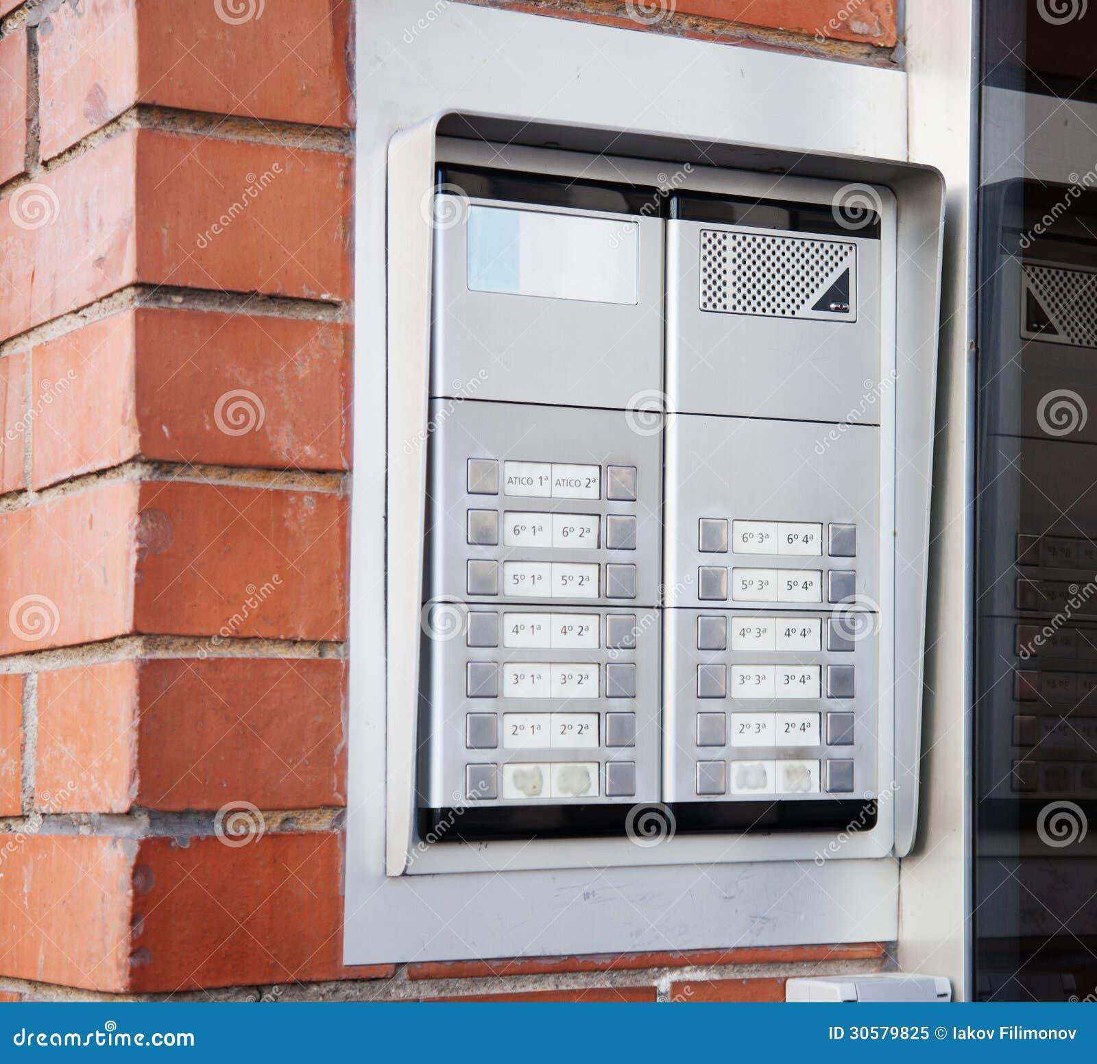 Closest Apartments: New Building Intercom Royalty Free Stock Photo