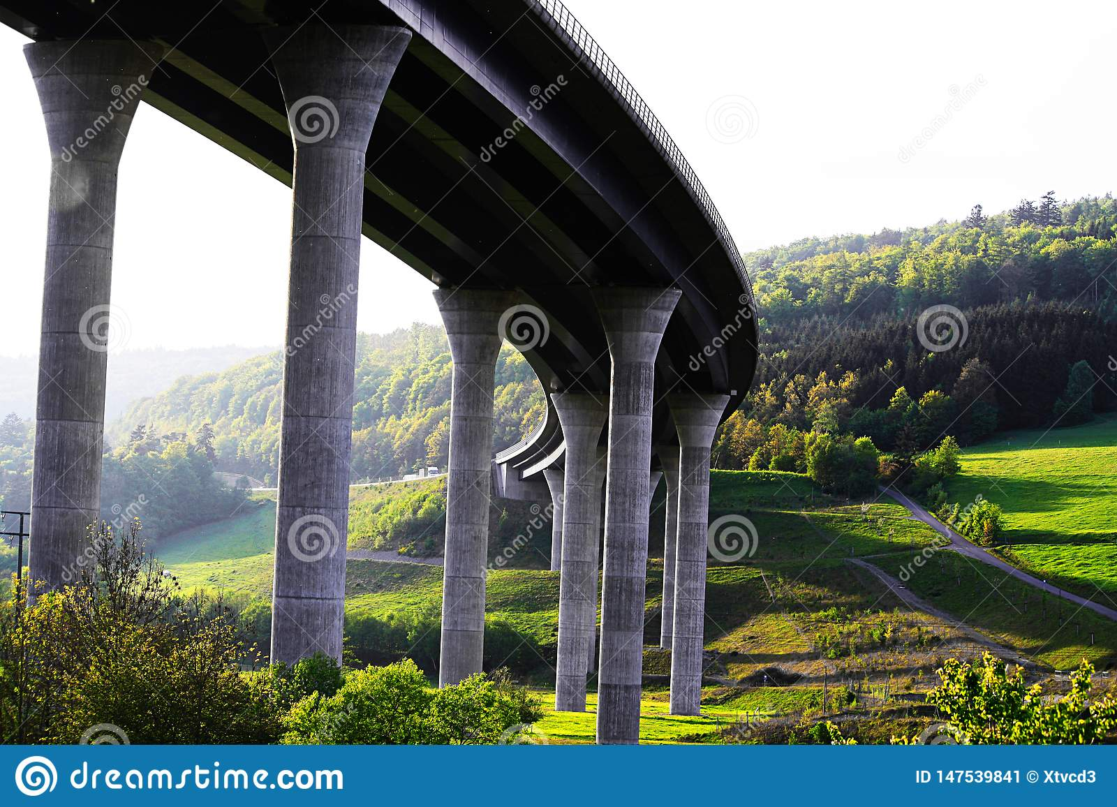 New built highway bridge in Bavaria, Germany