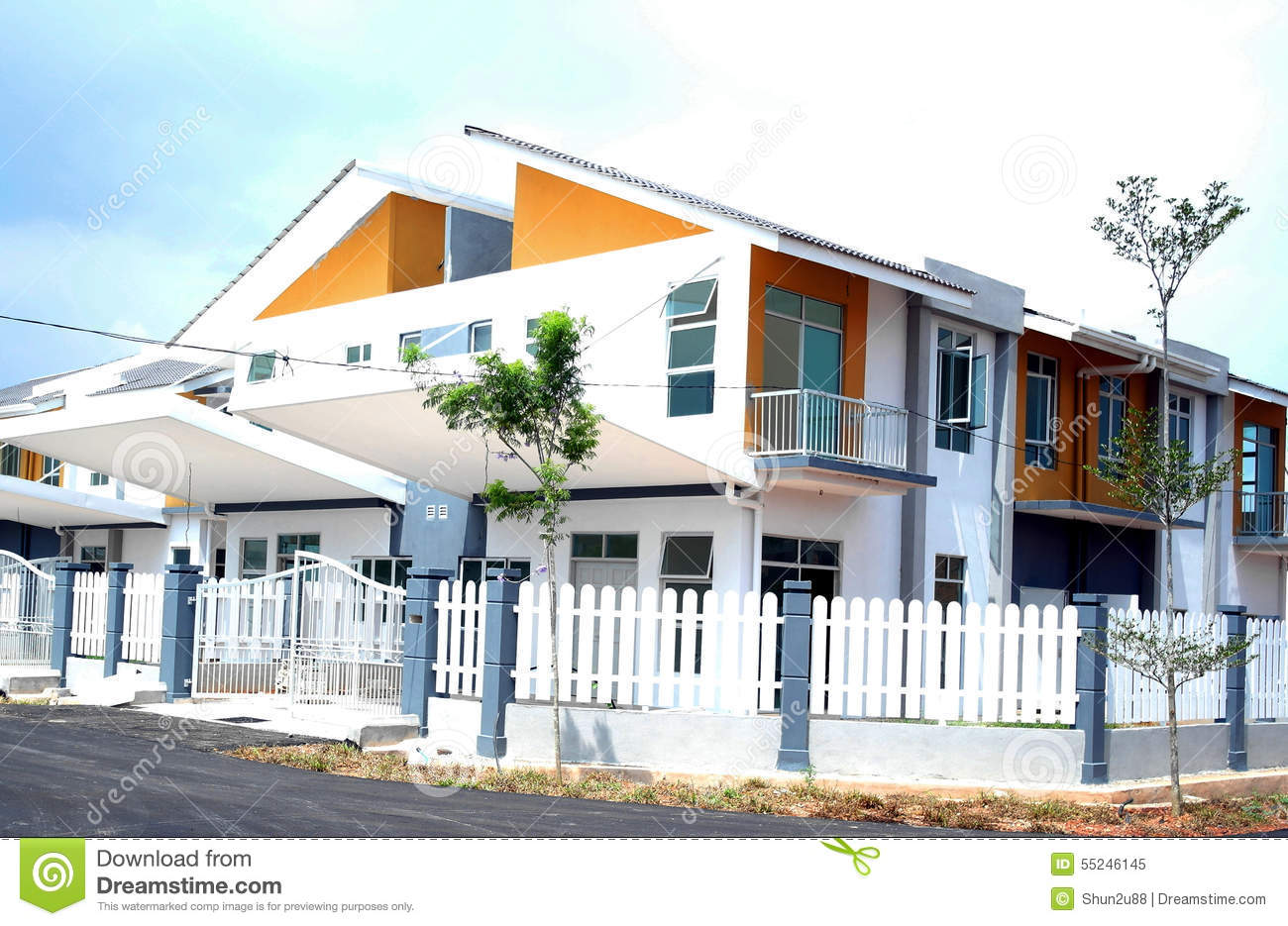 New Bungalow House Villa Stock Photo Image 55246145