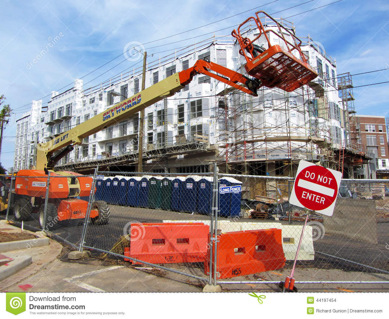 New Business Construction Editorial Stock Image