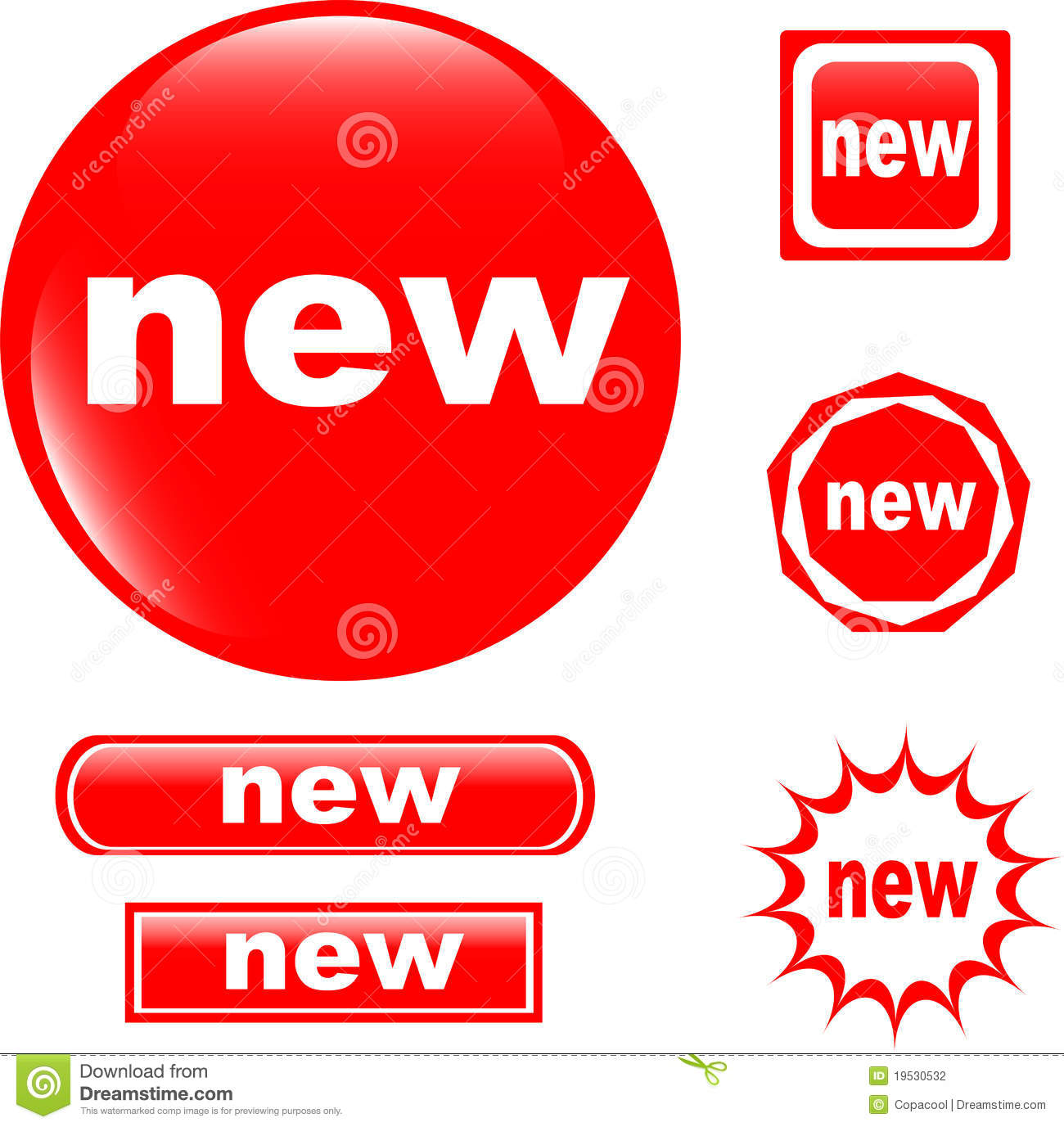 NEW Button Web Glossy Icon Stock Photography - Image: 19530532