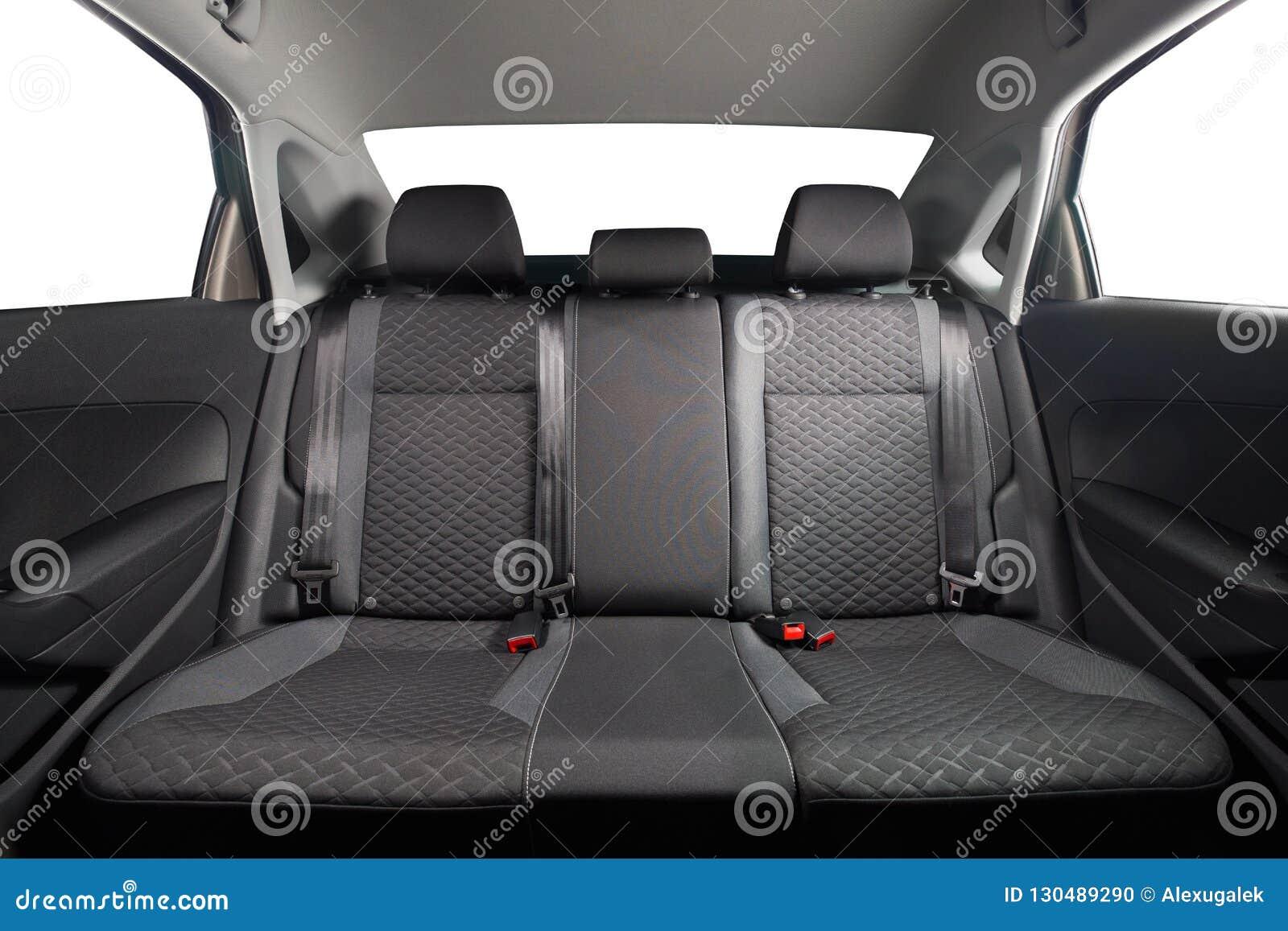New Car Inside Clean Car Interior Black Back Seats In Sedan Stock Photo Image Of Back Clean 130489290