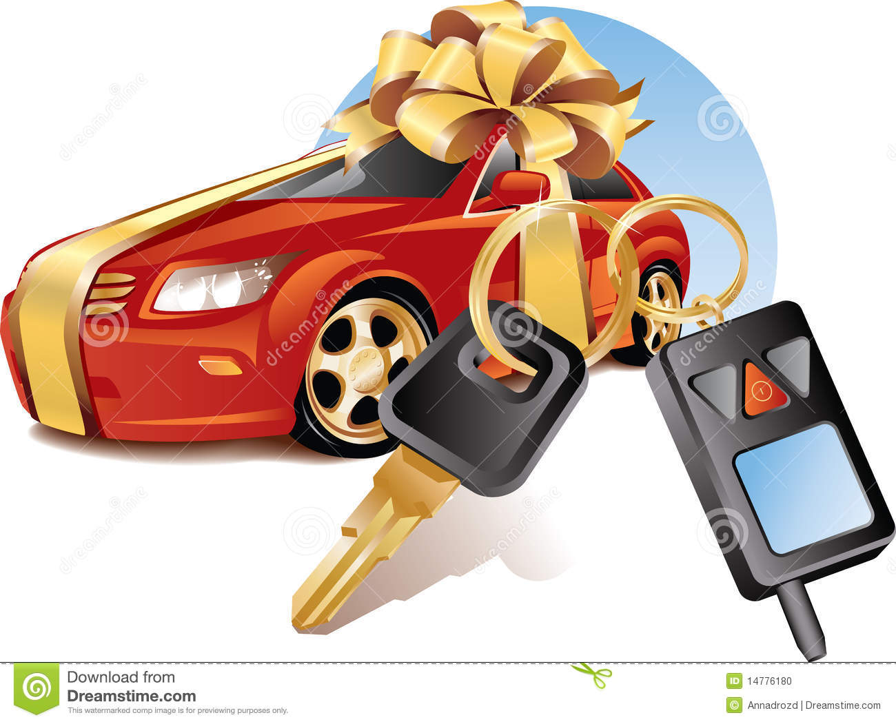 New Car With Keys Stock Vector. Illustration Of Drive