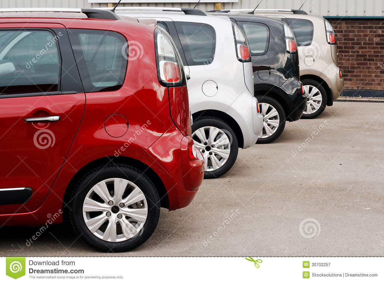 New Car Sales Color Choice Royalty Free Stock Photography