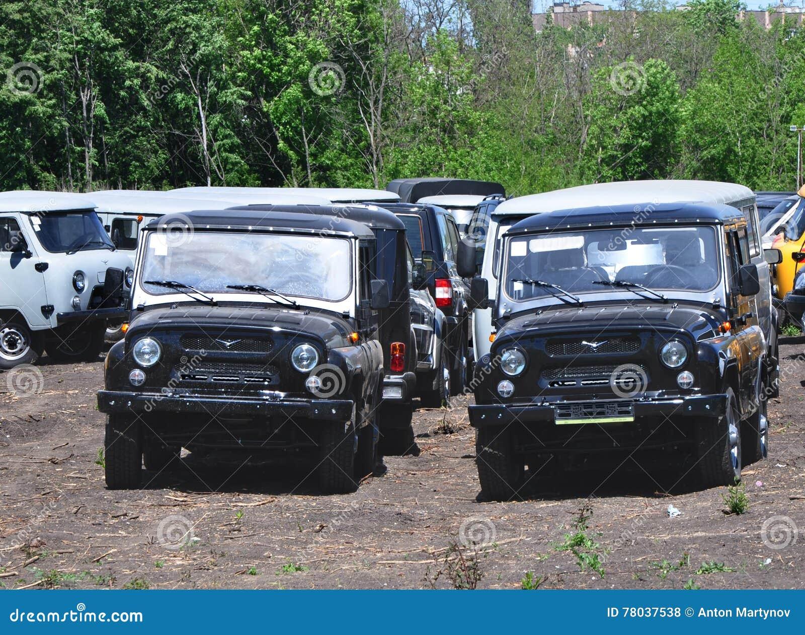New Cars Uaz Hunter Black Editorial Stock Photo Image