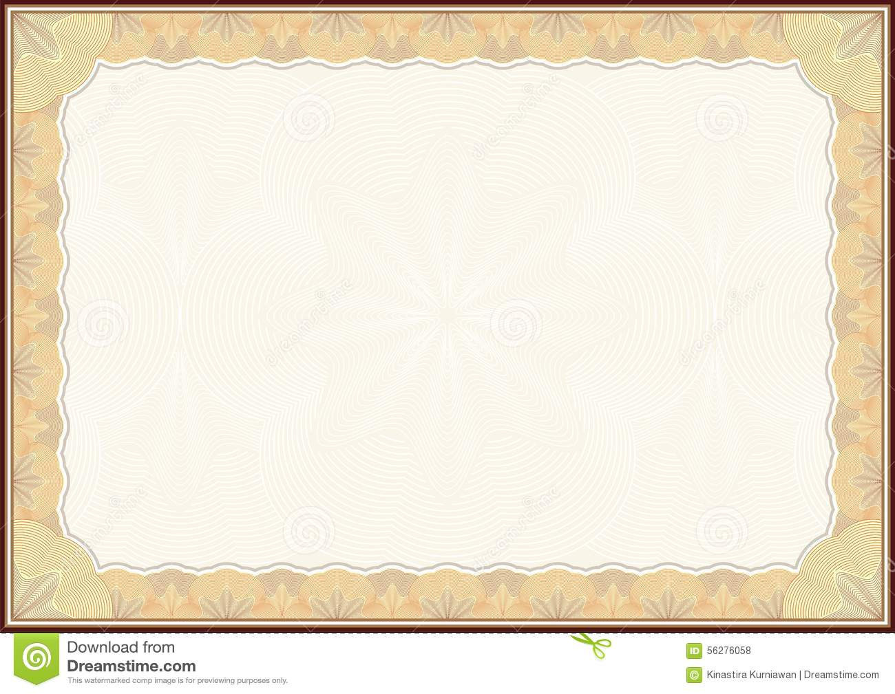 new certificate template design stock illustration