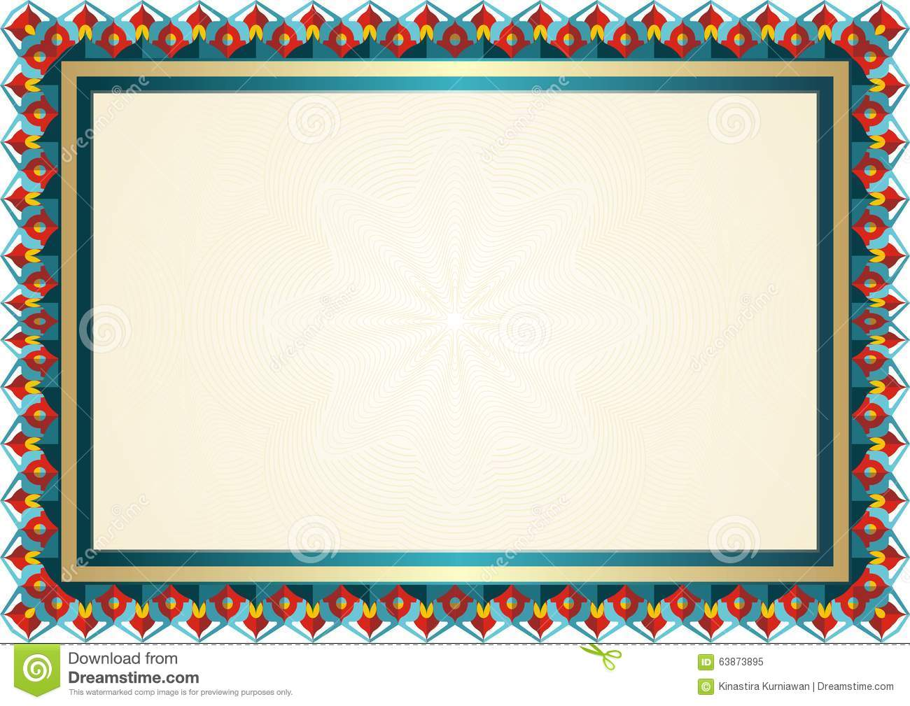 New certificate template stock vector image 63873895 for Headshot border template