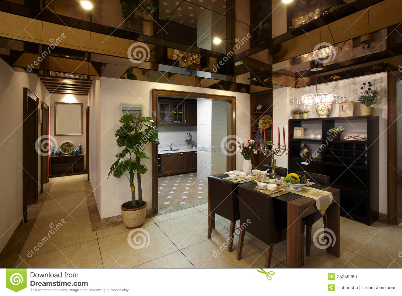 New Chinese Style Home Stock Photo Image 25259260