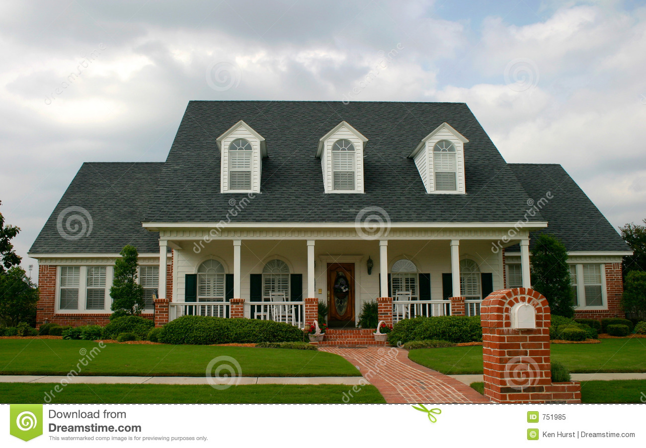 New classic style house stock image image of garden for Home architecture photos