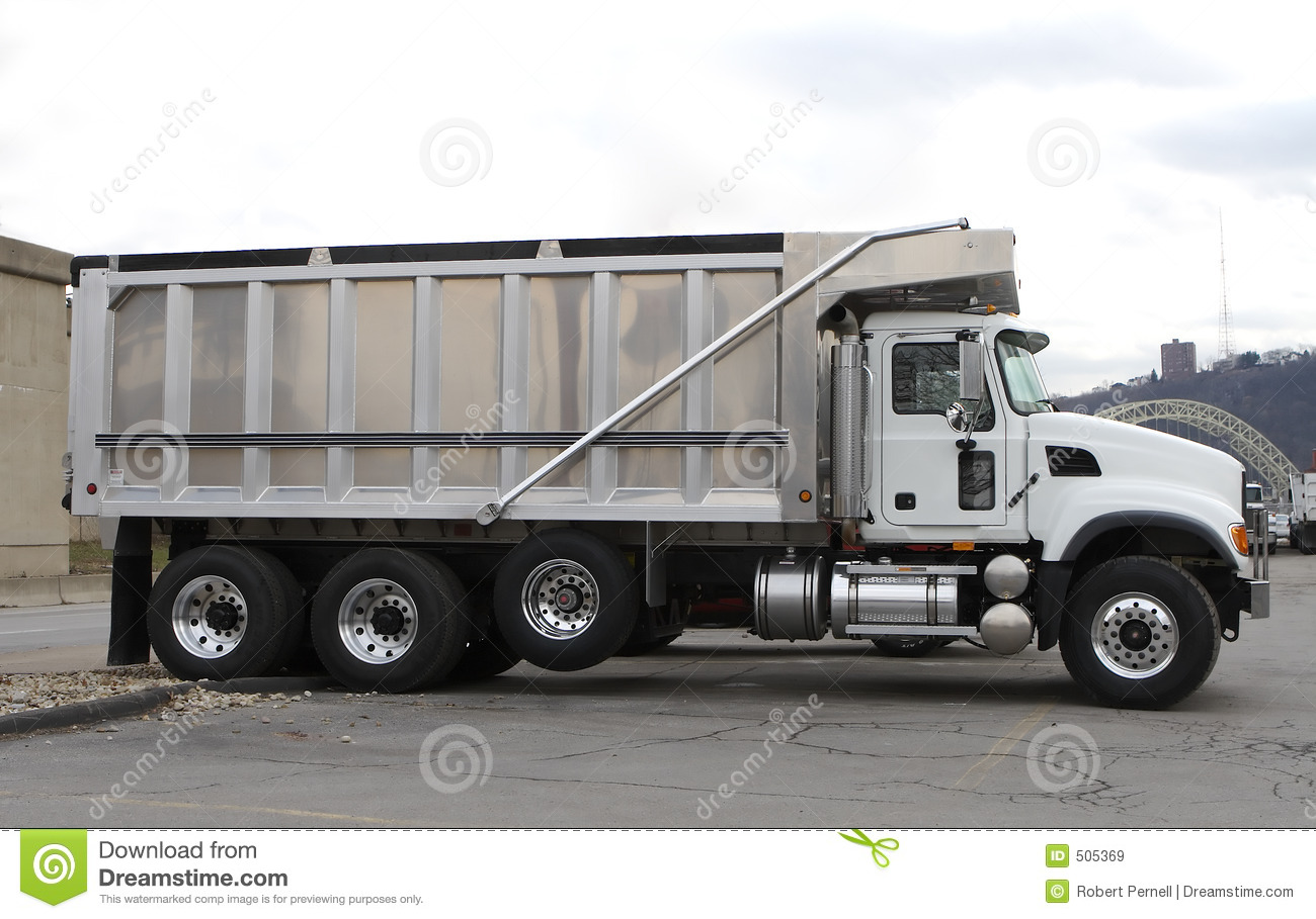 New Clean Dump Truck stock image  Image of trailer, shiny