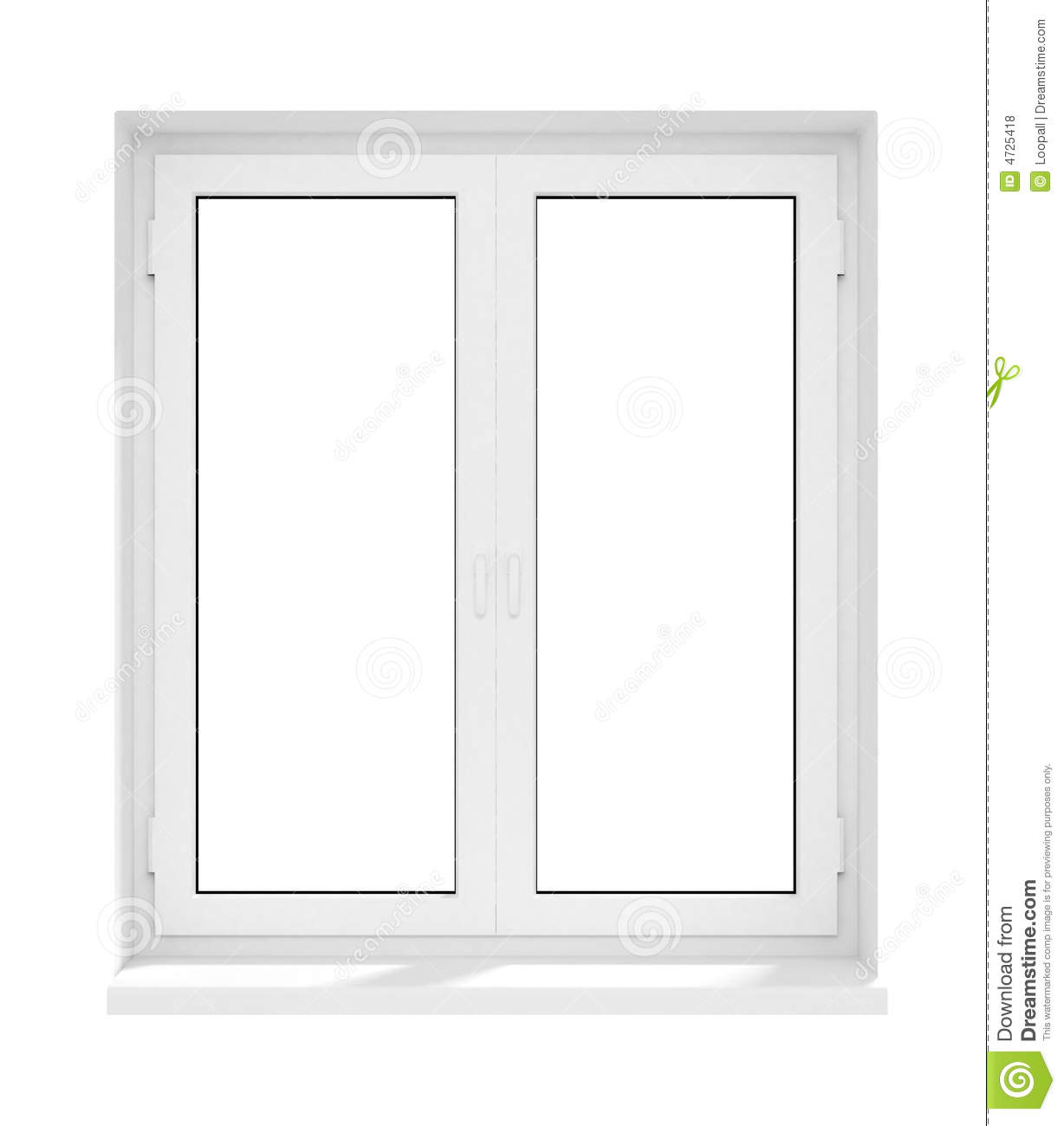 New closed plastic glass window frame isolated stock for Window plastic