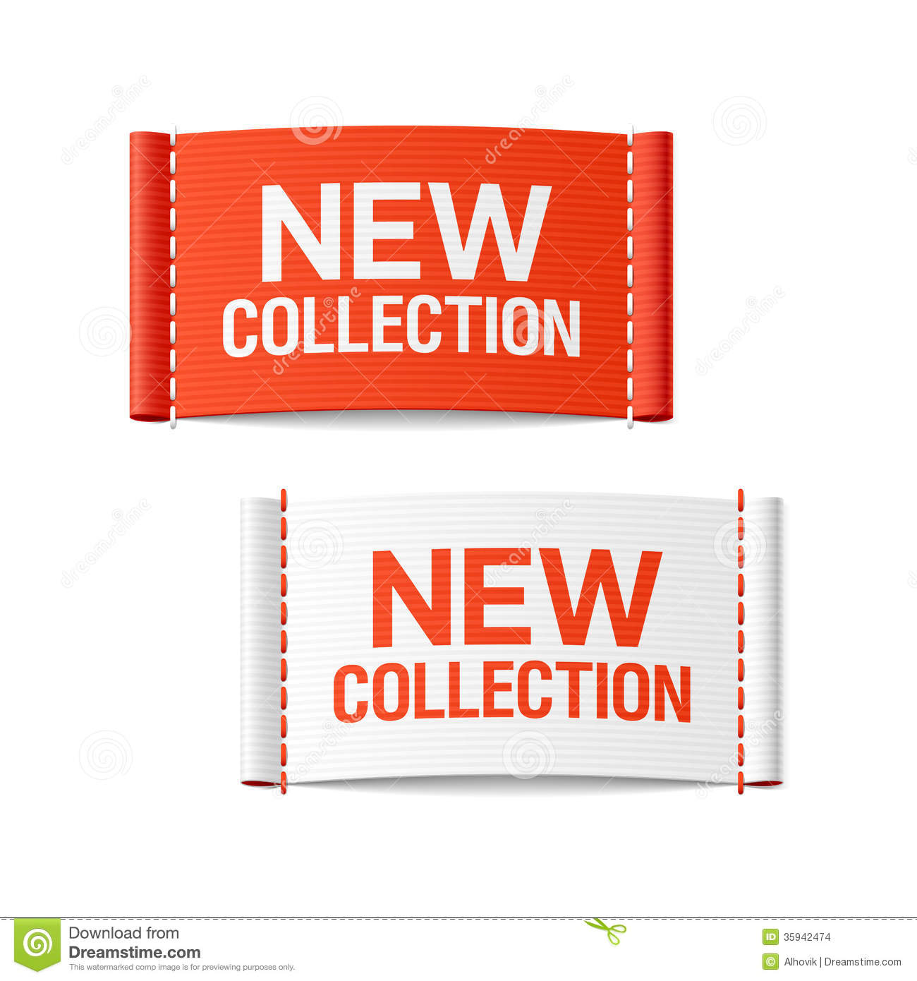 New Collection Clothing Labels Stock Images - Image: 35942474