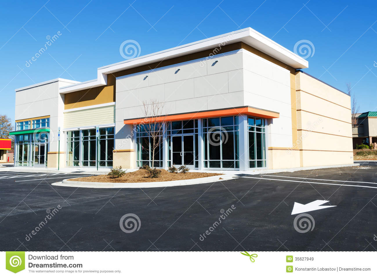 New Commercial Building. Estate, Insurance.