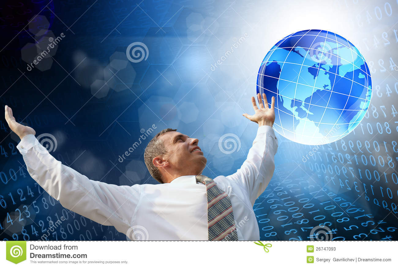 new computer internet technology stock image