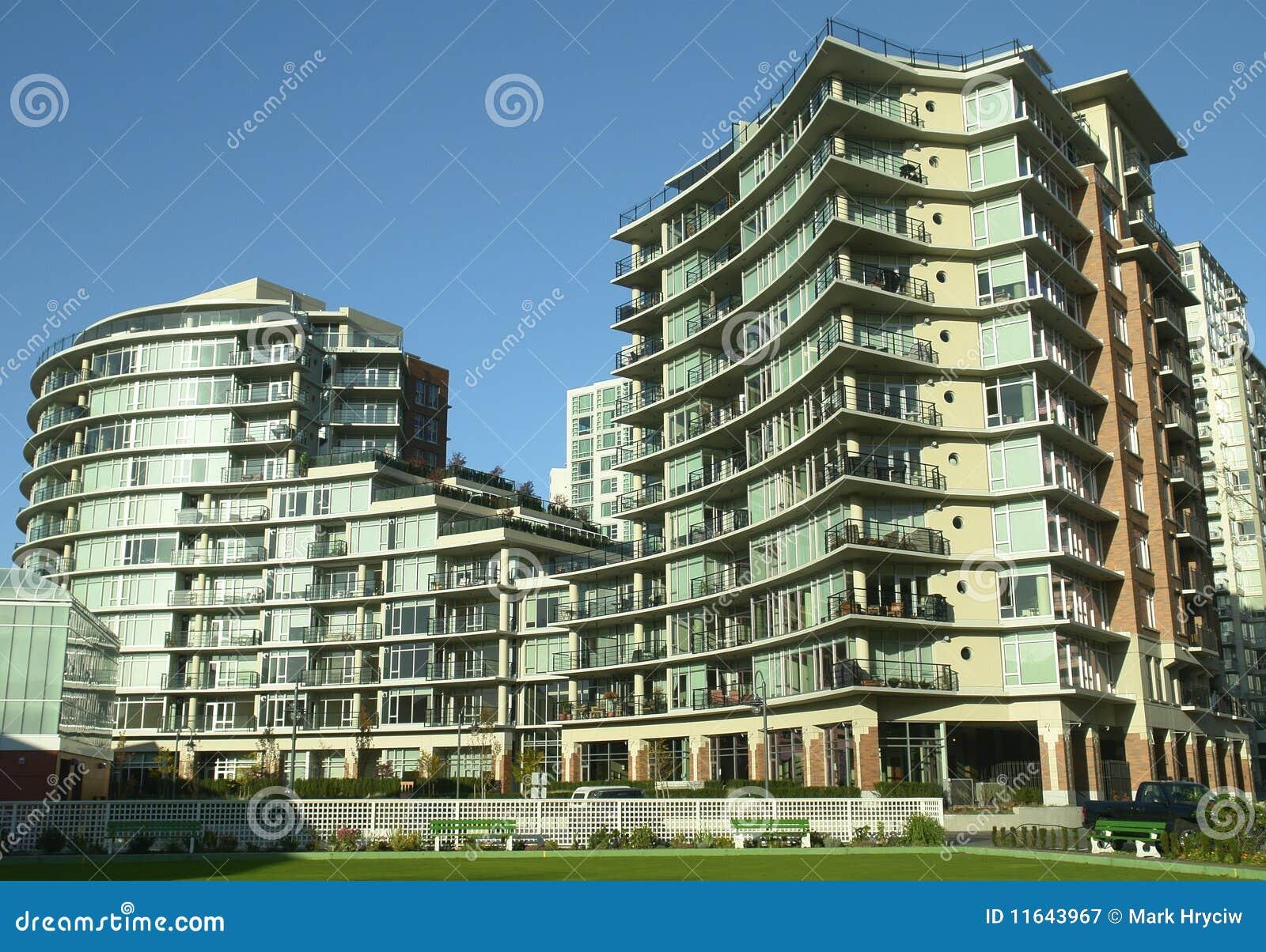 New Condominium Victoria Bc Royalty Free Stock Photography