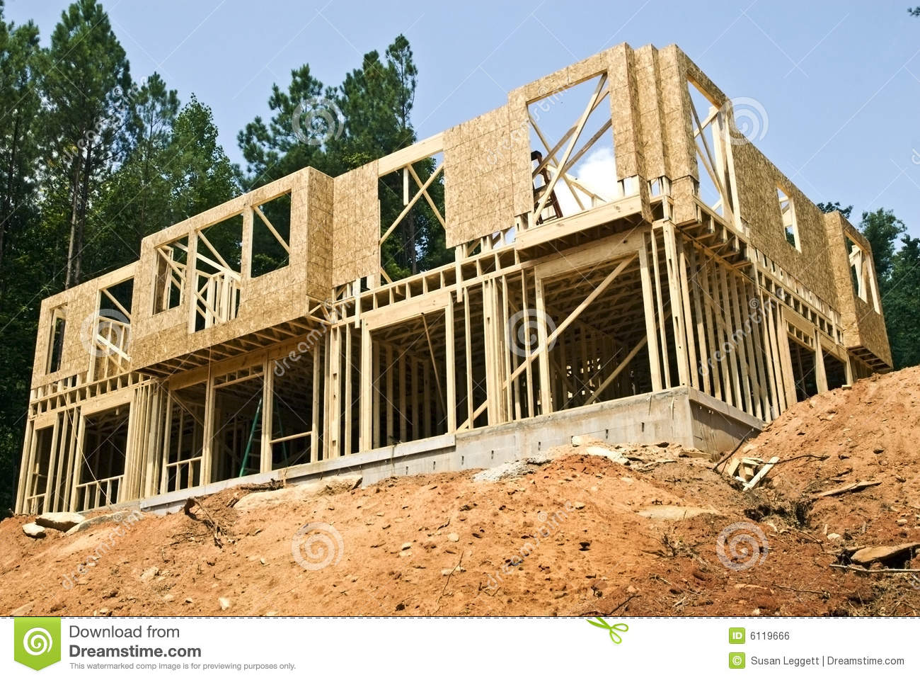 new construction basement royalty free stock image
