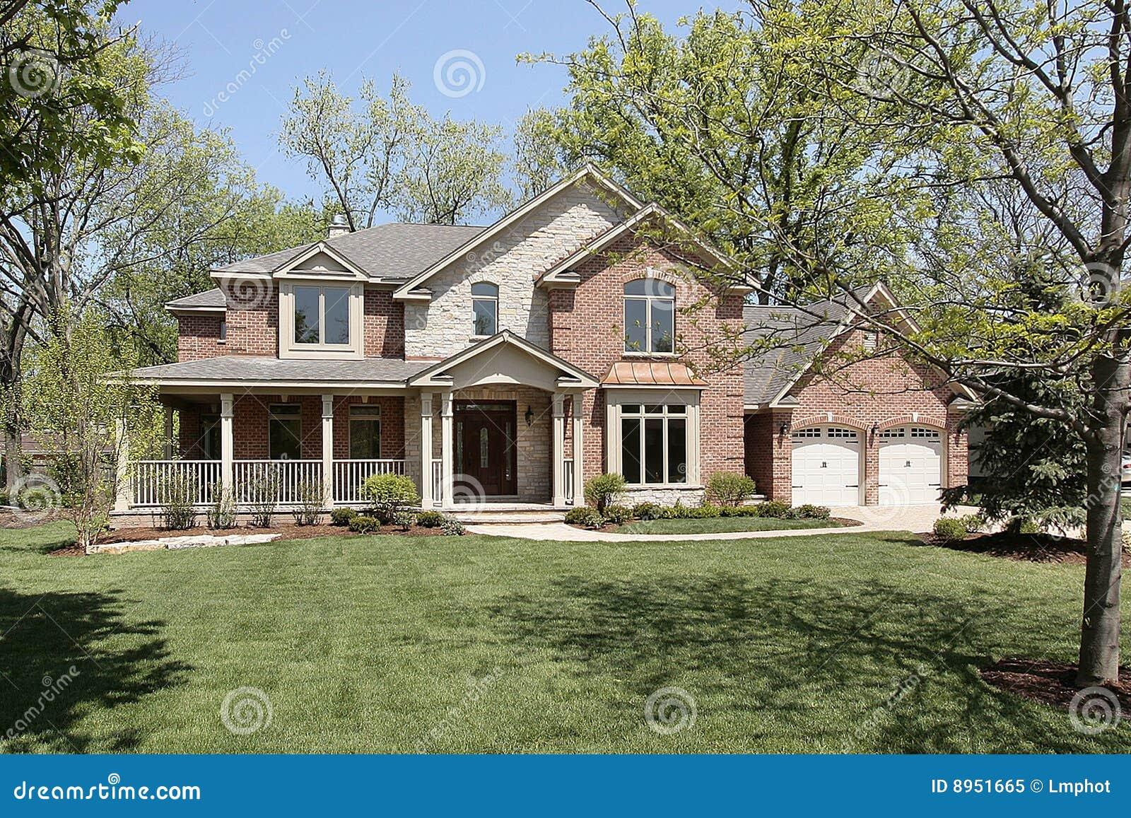 New Construction Brick Home Royalty Free Stock Photo