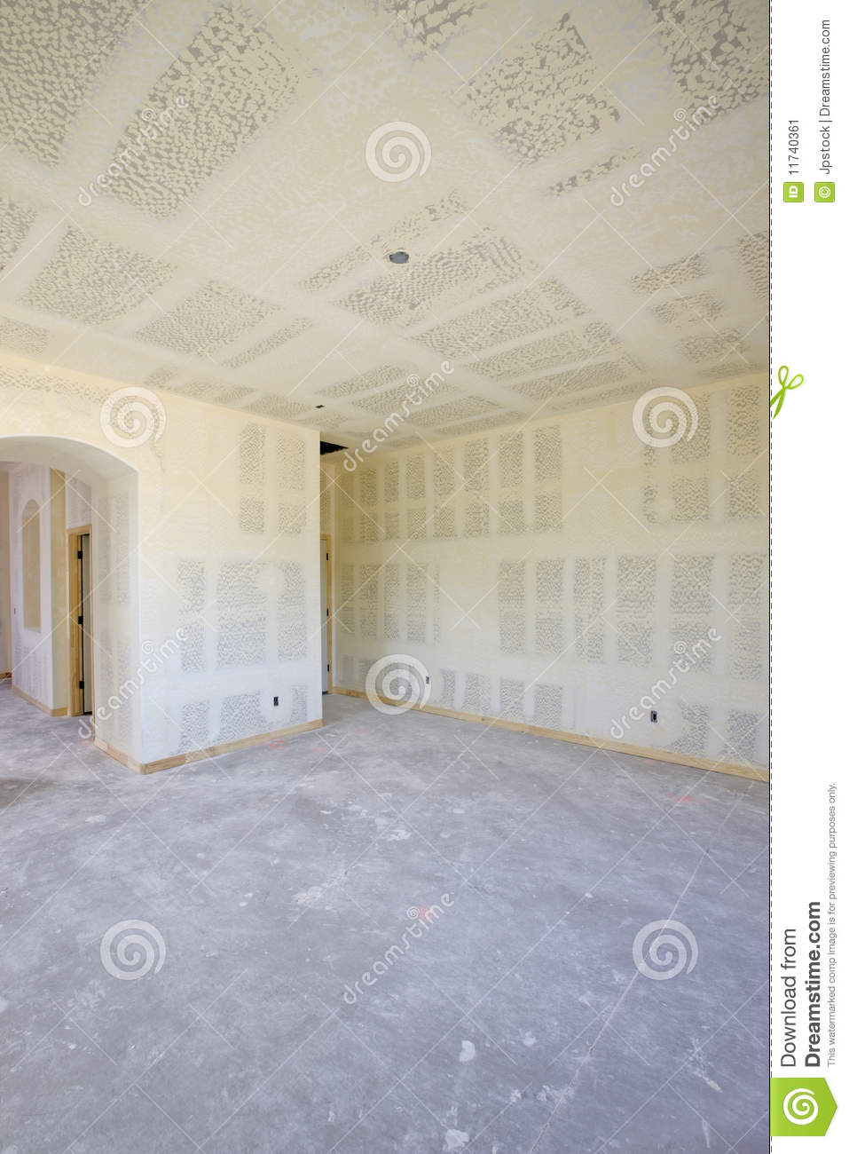 Drywall Time Cards : New construction of drywall interior stock image