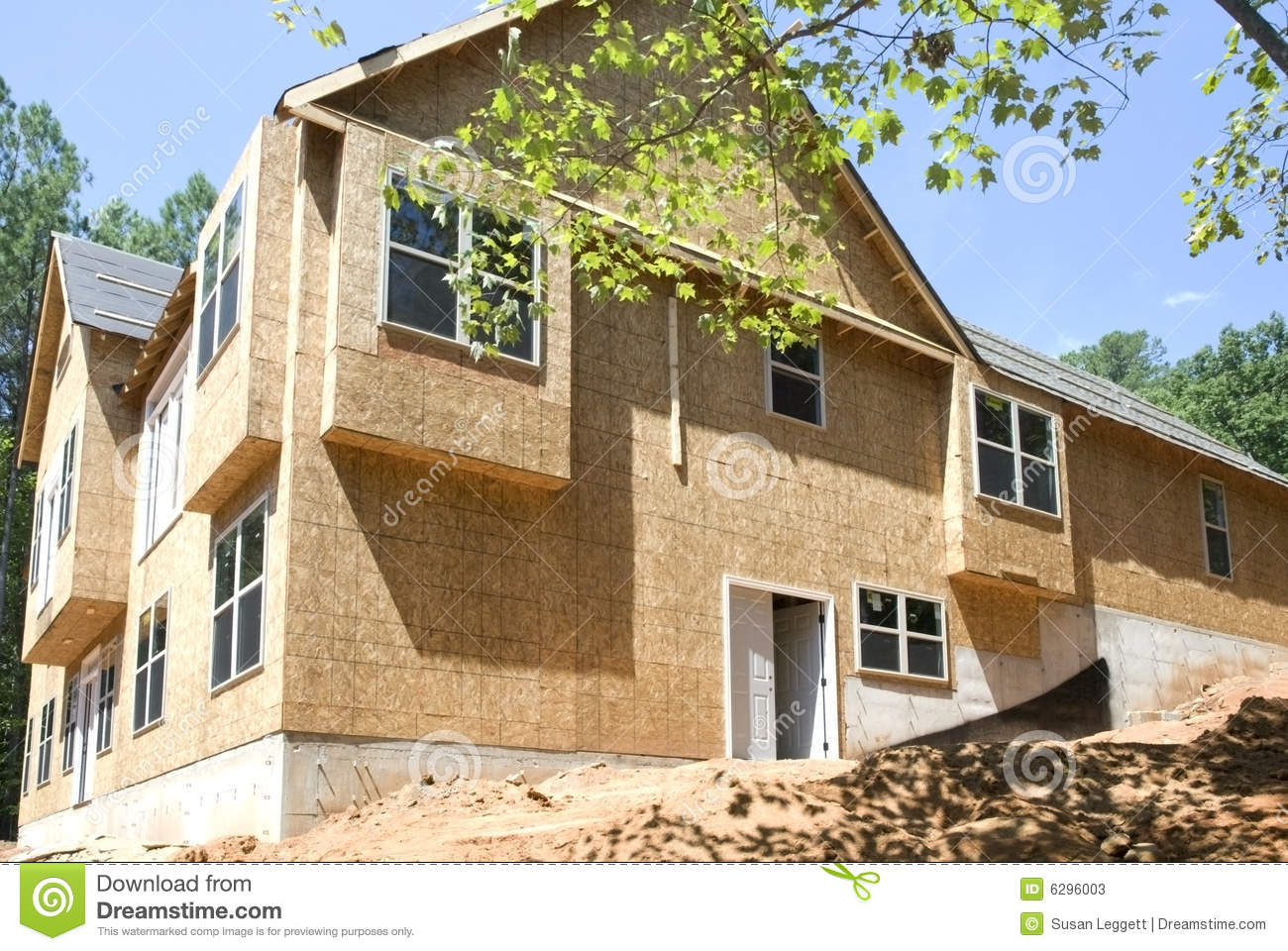 New construction side view stock photos image 6296003 for Building house with side views