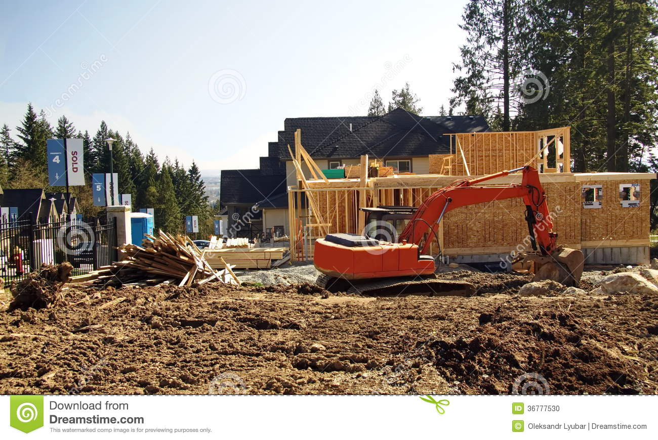 New Construction Site Stock Photo Image 36777530