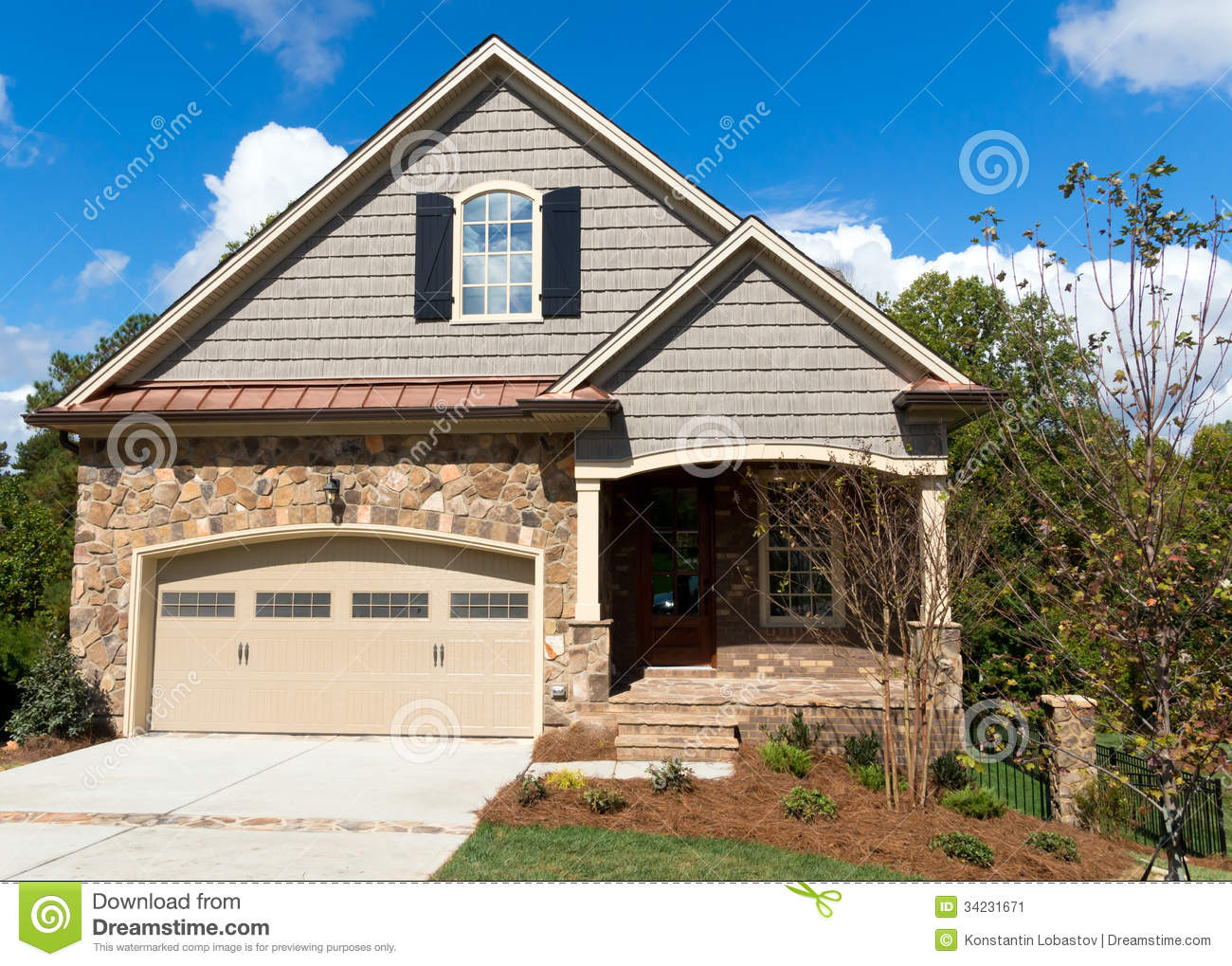 New Cottage Home Stock Image Image 34231671