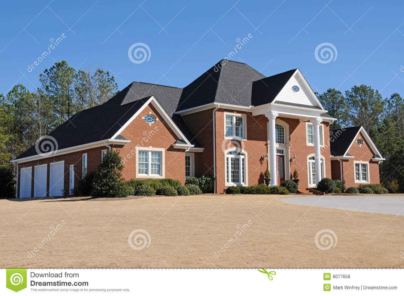 New custom built house royalty free stock photos image for Custom build house online