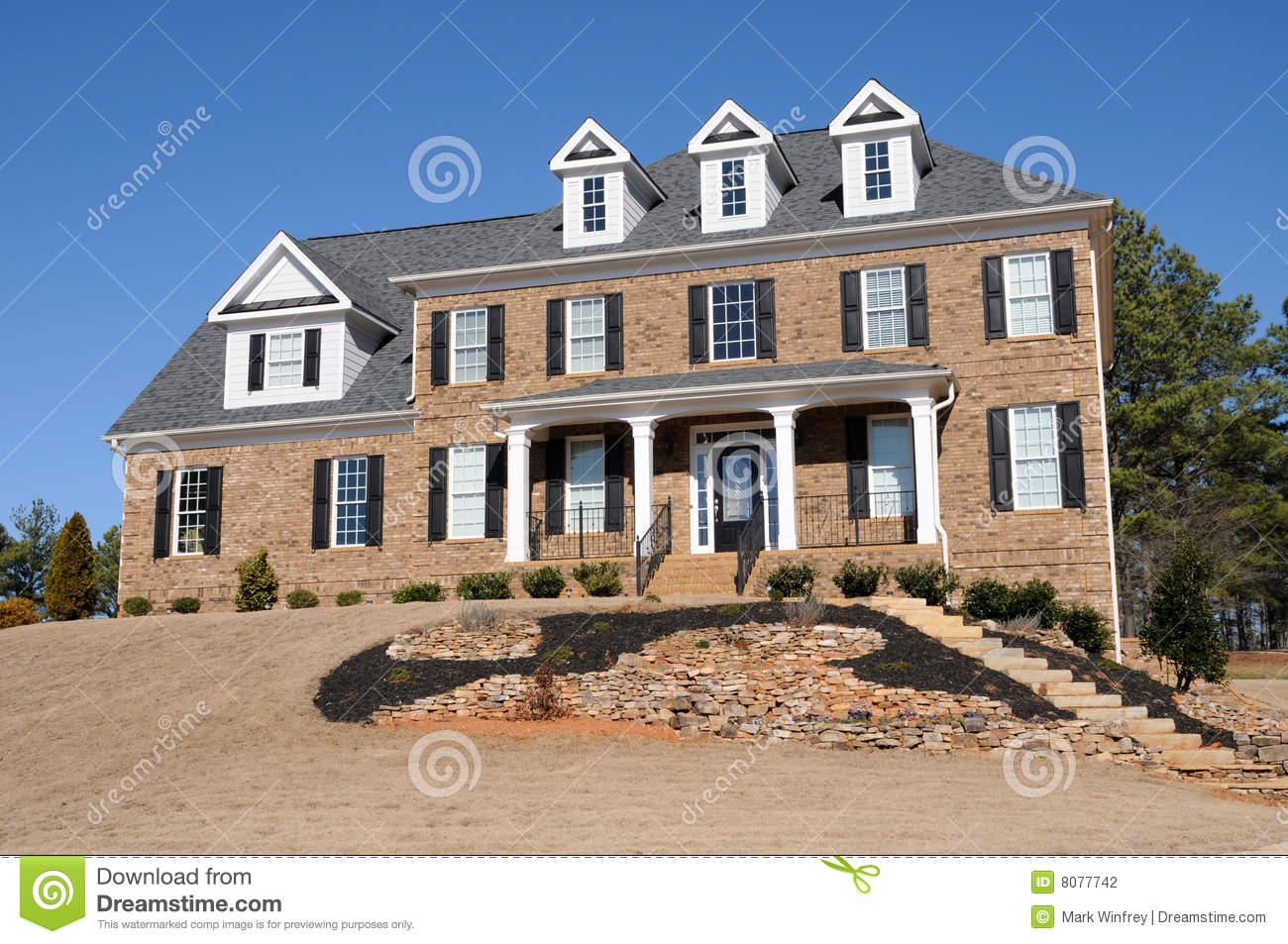 New Custom Built House Stock Photography Image 8077742