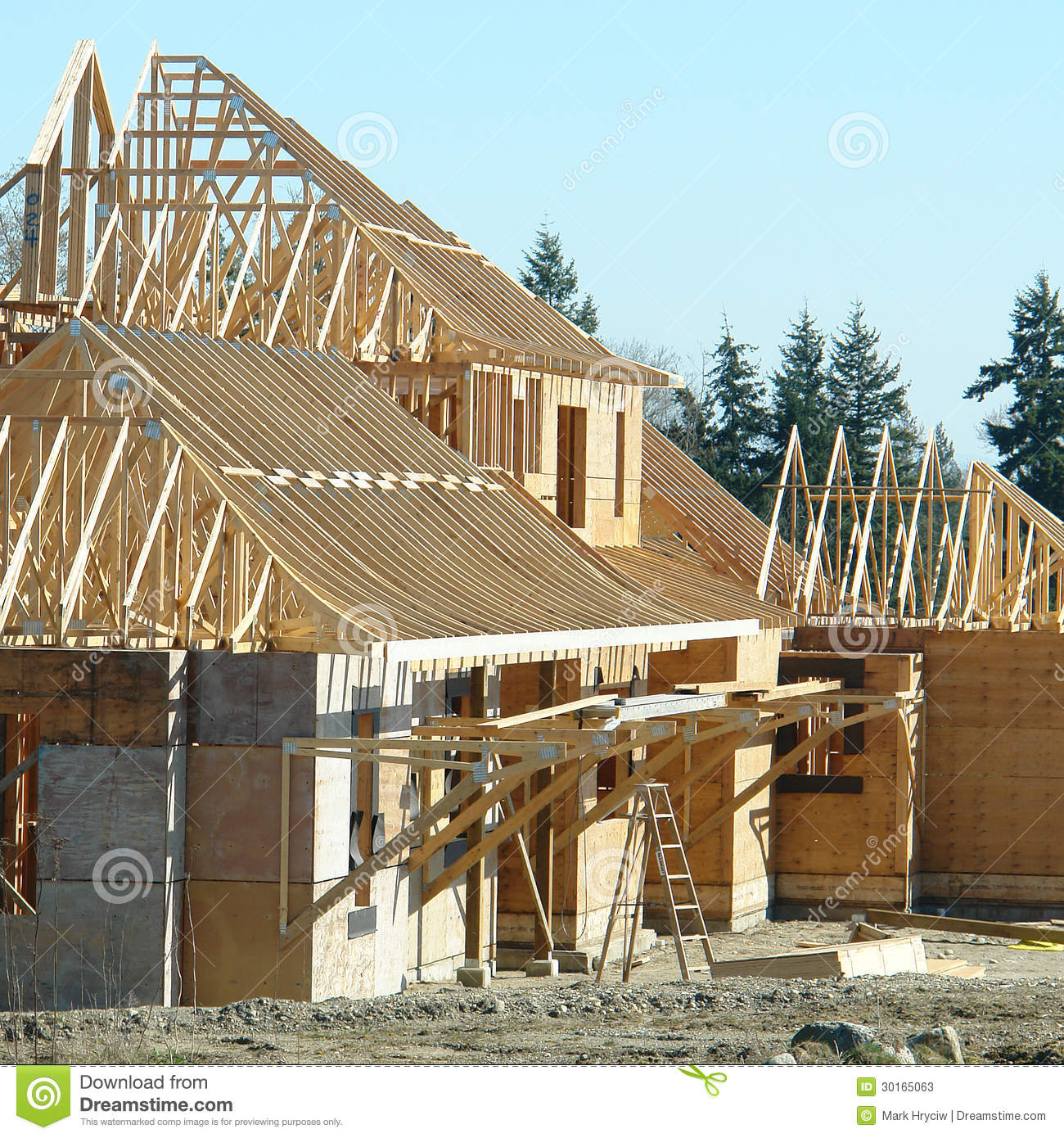 Vancouver Housing: House Construction New Housing Stock Photos